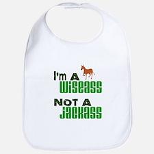 """""""Wiseass, Not Jackass"""" Bib"""