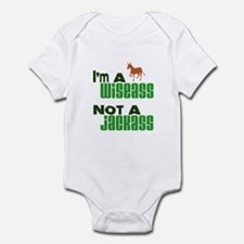 """Wiseass, Not Jackass"" Infant Bodysuit"