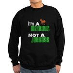 """Wiseass, Not Jackass"" Sweatshirt (dark)"