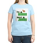 """Wiseass, Not Jackass"" Women's Light T-Shirt"