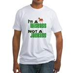 """Wiseass, Not Jackass"" Fitted T-Shirt"