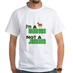 """Wiseass, Not Jackass"" White T-Shirt"