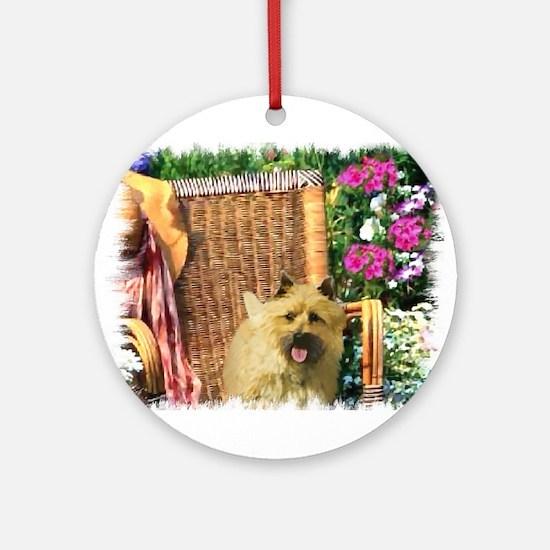 Cairn Terrier Art Ornament (Round)