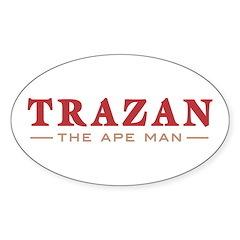 Trazan the Ape Man Oval Decal