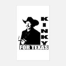 Kinky for Texas Rectangle Decal