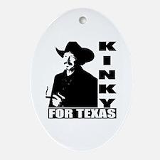 Kinky for Texas Oval Ornament