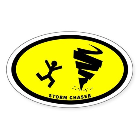 Storm Chaser Euro Oval Sticker
