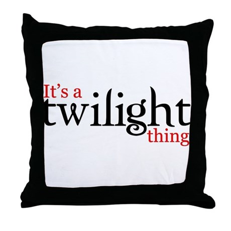 It's a Twilight thing Throw Pillow