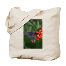 Black and Red Butterfly Tote Bag