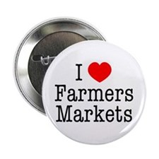 I Heart Farmers Markets Button (10 pack)
