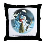 Goodwill to Man's Best Friend Throw Pillow