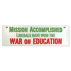 War on Education Bumper Sticker (10 pk)
