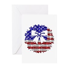 USA Wreath Greeting Cards (Pk of 10)
