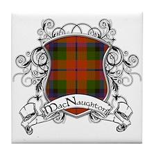 MacNaughton Tartan Shield Tile Coaster