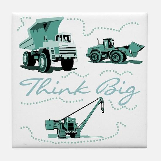 Think Big Construction Tile Coaster