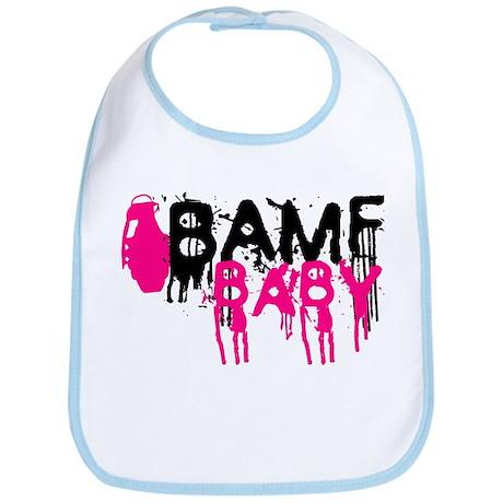 BAMF BABY pink Bib