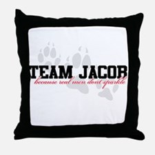Team Jacob - Because real men Throw Pillow