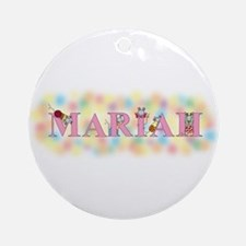 """""""Mariah"""" with Mice Ornament (Round)"""