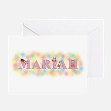 """Mariah"" with Mice Greeting Card"