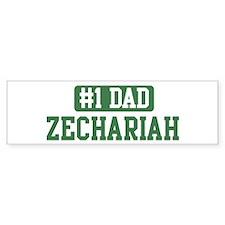 Number 1 Dad - Zechariah Bumper Bumper Sticker