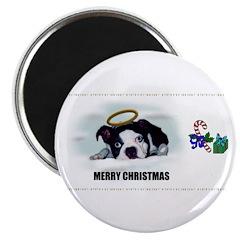 MERRY CHRISTMAS BOSTON TERRIER ANGEL Magnet