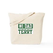 Number 1 Dad - Terry Tote Bag