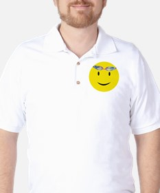 Swimmer Smiley / Eat my Bubbl Golf Shirt
