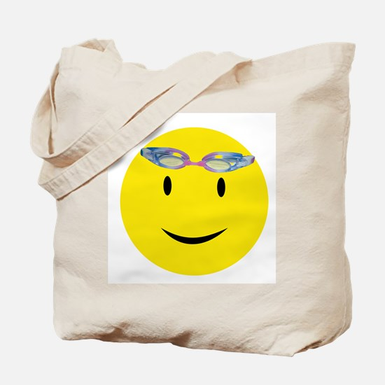 Swimmer Smiley / Eat my Bubbl Tote Bag