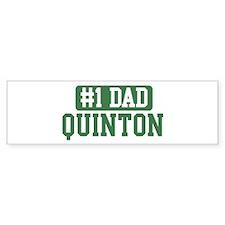 Number 1 Dad - Quinton Bumper Bumper Sticker