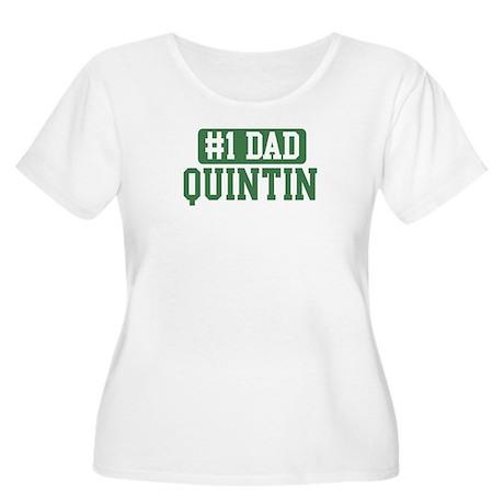 Number 1 Dad - Quintin Women's Plus Size Scoop Nec