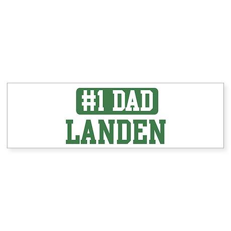 Number 1 Dad - Landen Bumper Sticker
