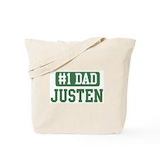 Number 1 Dad - Justen Tote Bag