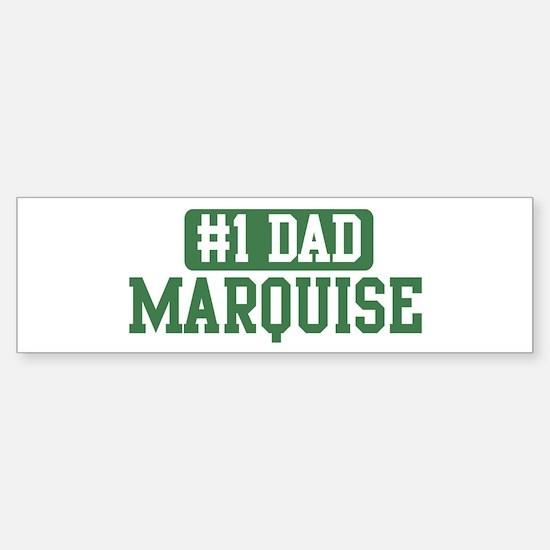 Number 1 Dad - Marquise Bumper Bumper Bumper Sticker