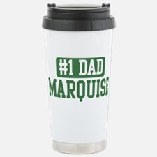 Number 1 Dad - Marquise Stainless Steel Travel Mug