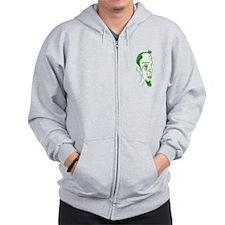 Green Man Zip Hoodie