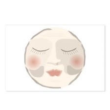 Unique Moon face Postcards (Package of 8)