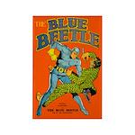 Classic Blue Beetle 4 Rectangle Magnet