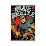 Classic Blue Beetle 3 Rectangle Magnet