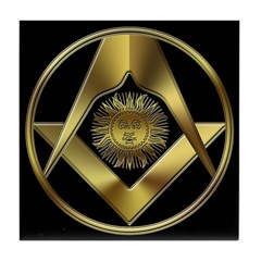 Masonic Sun in a Circle Tile Coaster
