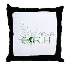 Save Earth Throw Pillow