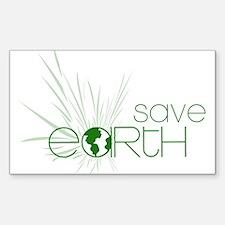 Save Earth Rectangle Sticker 10 pk)