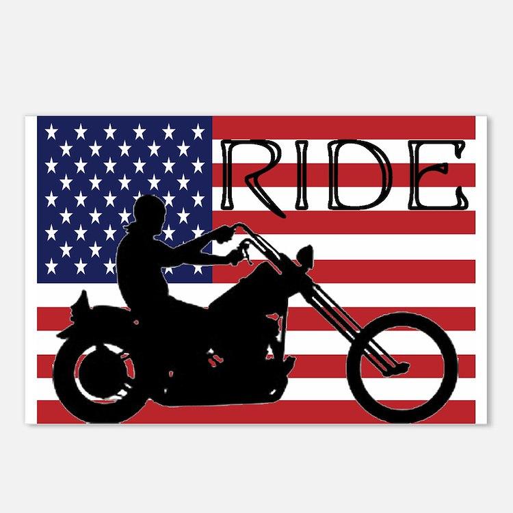 Cute Motorcycles Postcards (Package of 8)