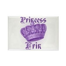 Princess Erin Vintage Crown Rectangle Magnet