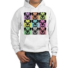 Border Terrier a la Warhol 4 Hoodie