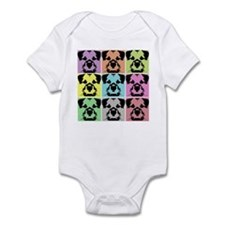 Border Terrier a la Warhol 4 Infant Bodysuit