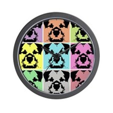 Border Terrier a la Warhol 4 Wall Clock