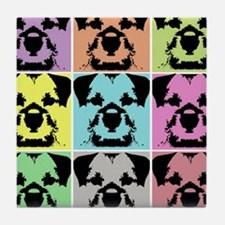 Border Terrier a la Warhol 4 Tile Coaster