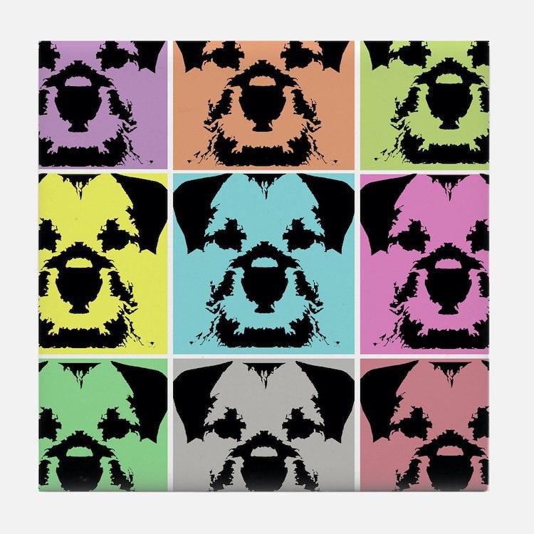 Border Terrier a la Warhol 4 Tile Coaster