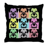 Border terrier Throw Pillows