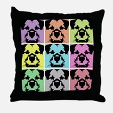 Border Terrier a la Warhol 4 Throw Pillow